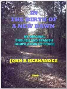 COVER IMAGE FROM MY NEW BOOK; A COMPILATION OF ENGLISH AND SPANISH POETRY